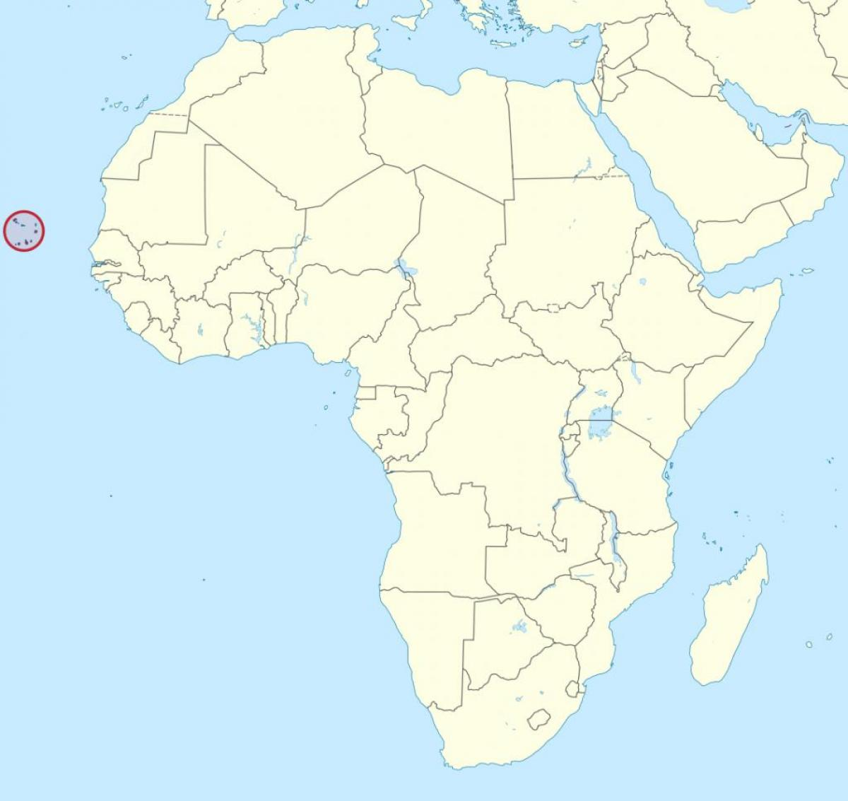 Cabo Verde africa map